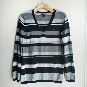 Tommy hilfiger Striped Metallic Sweater